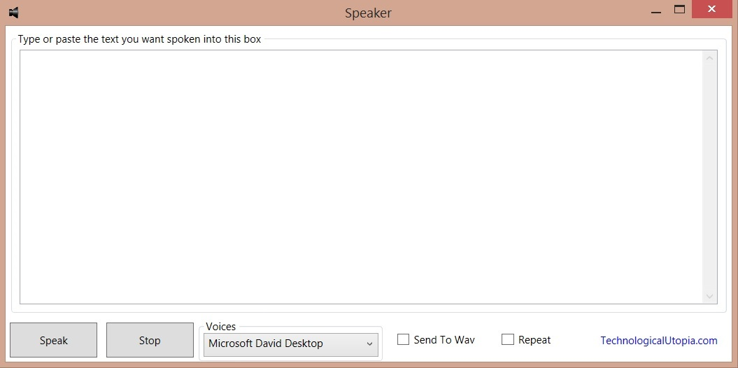 Text to speech reader.